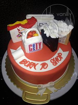 """""""Born to shop""""  - Cake by Lily Vanilly"""