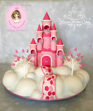 Yasmine's Pink Castle in the Sky - Cake by Mardie Makes Cakes