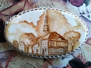 My city painted with coffee - Cake by Ewa Kiszowara