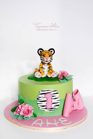 baby tiger  - Cake by Alina Vaganova