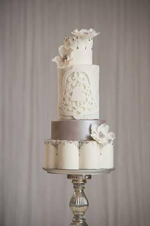 Winter wedding bells - Cake by Pamela Jane