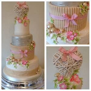 Rustic woodland wedding cake - Cake by Tickety Boo Cakes