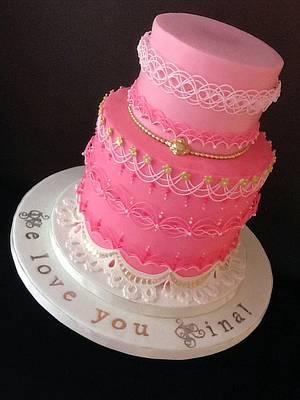 The Sugar Nursery's Oriental String Work Princess Cake - Cake by The Sugar Nursery - Cake Shop & Imaginarium
