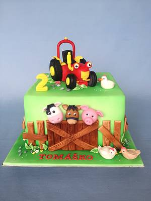 Tractor Tom  - Cake by Layla A