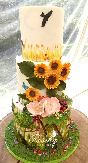 Woodlands, Meadow and Fields Wedding Cake - Cake by The Rosehip Bakery