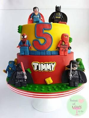 Lego super heroes;) - Cake by Aga Leśniak