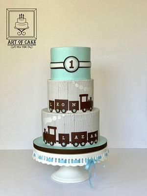 Coo-Coo Train Cake - Twin Boys 1st Birthday - Cake by Akademia Tortu - Magda Kubiś