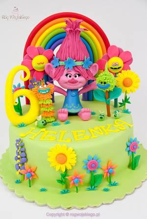 Trolls Poppy Cake / Tort z bajki trolle - Cake by Edyta rogwojskiego.pl