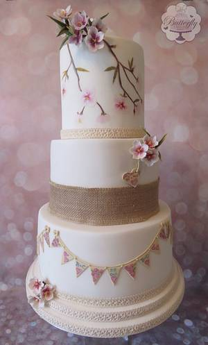 Wedding cake - Cake by Butterfly Cakes and Bakes