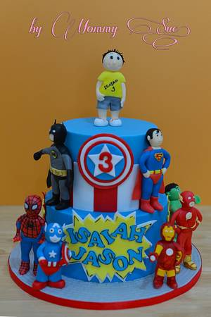 SuperHeroes Cake - Cake by Mommy Sue