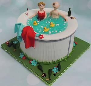 Hot tub cake - Cake by Shereen