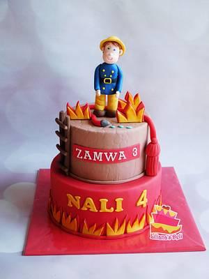 Fire fighter cake - Cake by Liliana Vega
