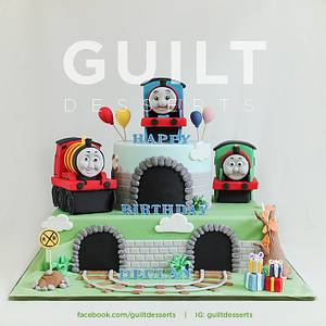 Thomas Train Cake - Cake by Guilt Desserts