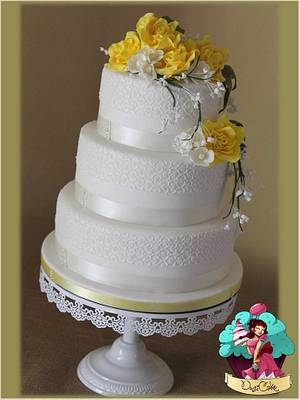 Lacey Roses x  - Cake by DusiCake