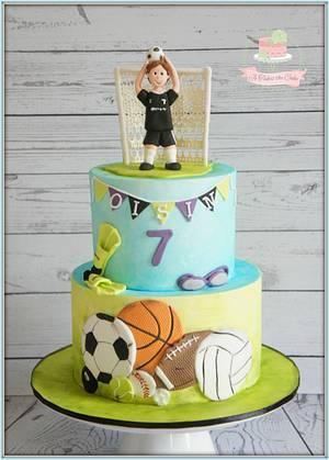Sports Balls! - Cake by Jo Finlayson (Jo Takes the Cake)