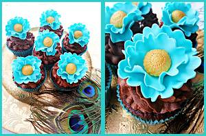 Ruffled Turquoise - Cake by Princess of Persia