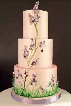 The Sugar Nursery's Painted 2D/3D Lavendar Cake - Cake by The Sugar Nursery - Cake Shop & Imaginarium