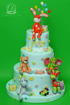 Boy christening cake - Cake by Cofetaria Dana