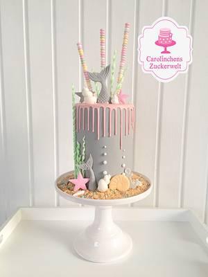 💕🐚 Mermaid Dripcake 🐚💕 - Cake by Carolinchens Zuckerwelt
