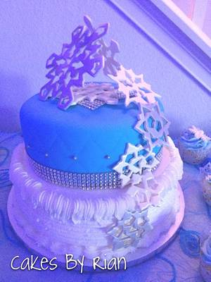 Winter/Frozen Sweet 16 - Cake by Cakes By Rian