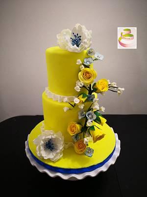 Brasil Flower wedding cake - Cake by Ruth - Gatoandcake