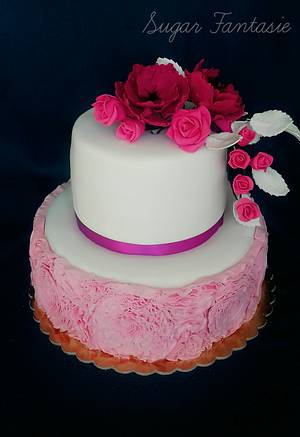 Ruffle cake - Cake by Ildikó Dudek