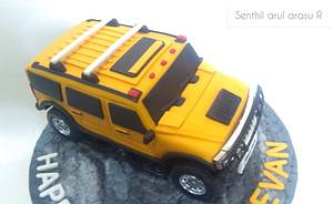 Remote operated moving hummer cake - Cake by Senthil