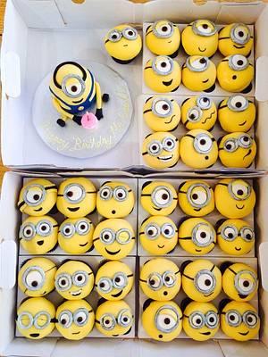 Minion Invasion! - Cake by Jenny Kennedy Jenny's Haute Cakes