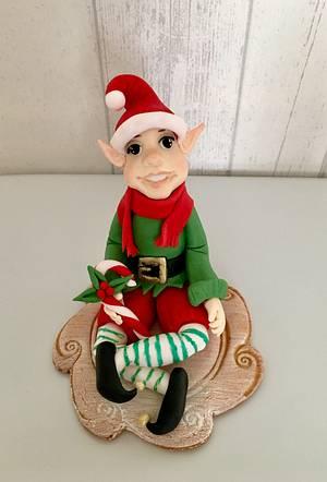 Christmas elf - Cake by laskova
