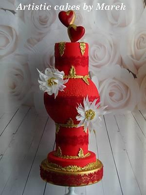 Red wedding - Cake by Marek