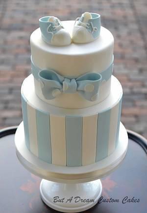 Baby Blue Shower Cake - Cake by Elisabeth Palatiello