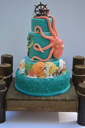 Octopus Cake - Cake by eeeason