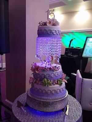 Sweet 15 Cake.  - Cake by BakeNCraft.com