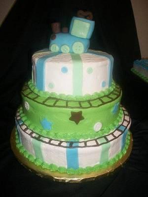 Train Baby Shower - Cake by caymancake
