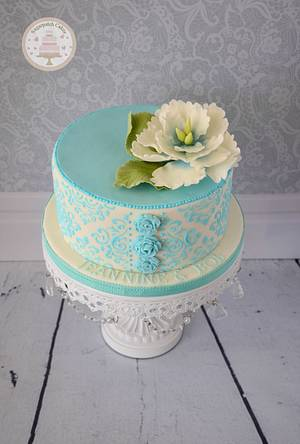 Vintage Anniversary - Cake by Sugarpatch Cakes