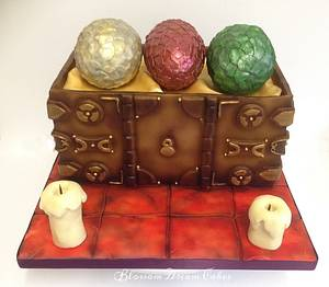 Chest of Eggs - Cake by Blossom Dream Cakes - Angela Morris