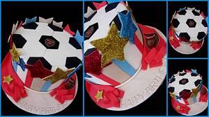 Arsenal Soccer Cake - Cake by Veronika