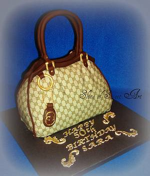 Gucci Purse Cake - Cake by Slice of Sweet Art