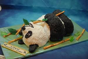 Panda-Birthdaycake - Cake by Aurelia'sTartArt