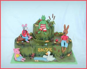 Frog and friends - Cake by Karen Dodenbier
