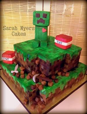 Minecraft Cake - Creeper <3 TNT - Cake by Sarah Myers