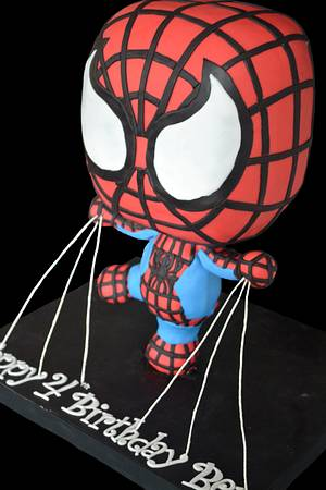 Spiderman Chibi - Cake by cakemomma1979