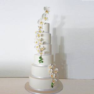 Wedding orchid cake - Cake by Happy Cupcakes To you
