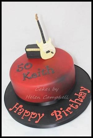 Fender Stratocaster Cake - Cake by Helen Campbell