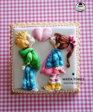 Love is in the air.......  - Cake by The Cookie Lab  by Marta Torres
