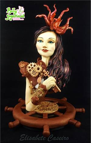 Lady Octopus - Cake by Bety'Sugarland by Elisabete Caseiro