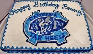 North Carolina University Tar Heels BC cake - Cake by Nancys Fancys Cakes & Catering (Nancy Goolsby)