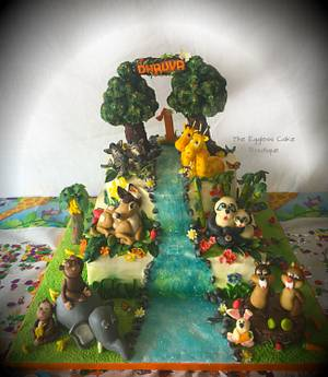 Jungle theme FRESHCREAM cake - Cake by Payal Jain