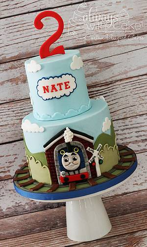 Thomas The Train  - Cake by AlwaysWithCake