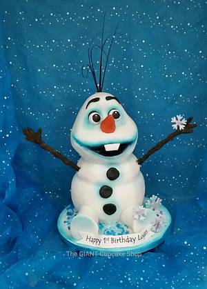 Olaf - Cake by Amelia Rose Cake Studio